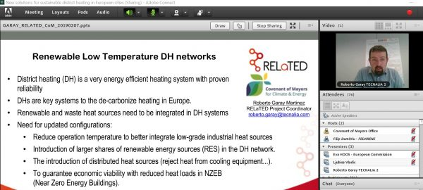 Webinar – New solutions for sustainable district heating in European cities