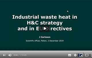 Watch the Integration of Industrial Waste Heat in District Heating Systems [webinar]