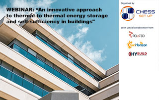 """NEXT WEBINAR: """"An innovative approach to thermal energy storage and self-sufficiency in buildings"""""""