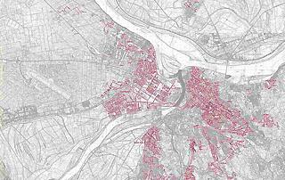 Overview Beoelektrane district heating network Belgrade
