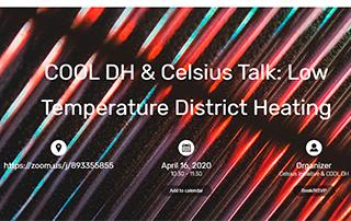 Webinar Celsius - CoolDH- low temperature district heating
